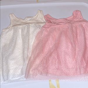Baby gap glitter tulle tops 18-24 months